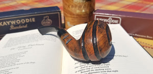 Kaywoodie Ruf-Tone Bent Billiard Pipe