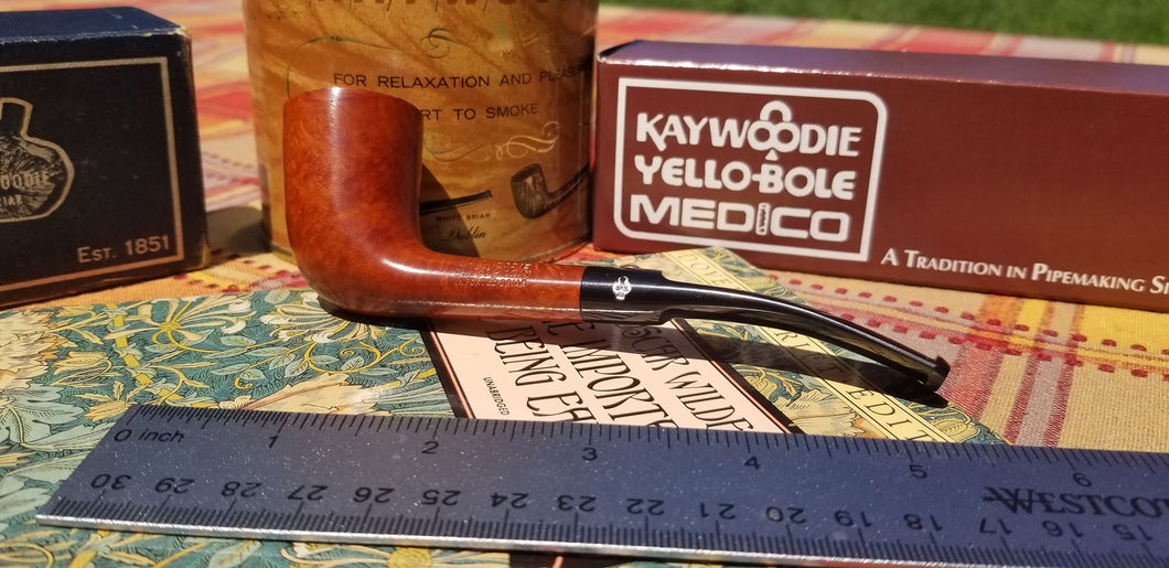 Kaywoodie Super Grain Zulu with longer stem Pipe