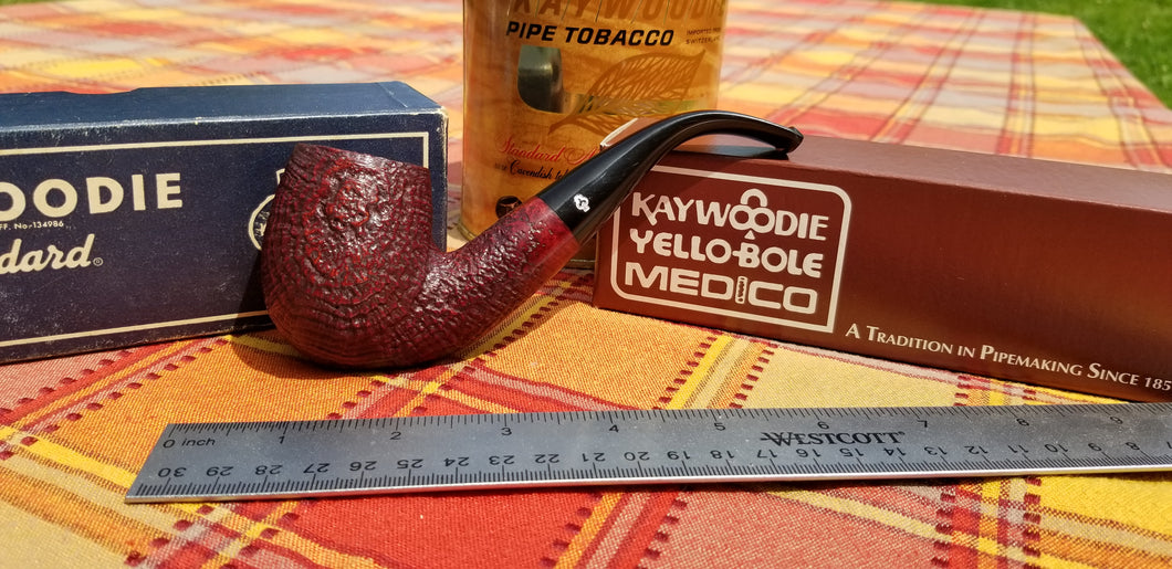 Kaywoodie Saxon Large Bent Billiard Pipe