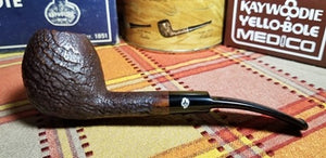 Kaywoodie Relief Grain Bent Egg Pipe