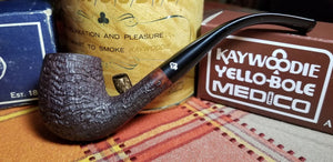Kaywoodie Relief Grain Bent Billiard Pipe
