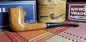 Medico Select Briar Paneled Zulu shaped filtered Pipe