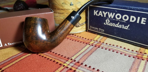 Kaywoodie Connoisseur Large Bent Billiard Pipe