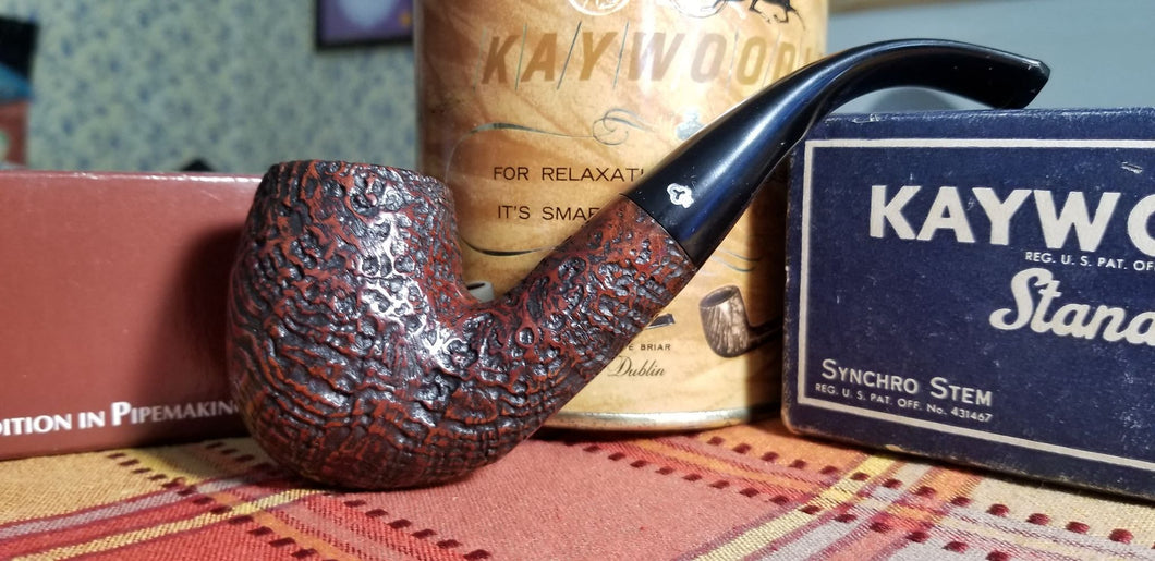 Kaywoodie Red-Root Chubby Bent Billiard pipe
