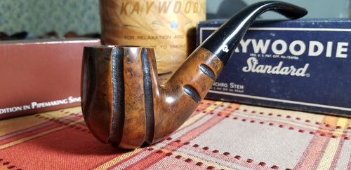 Kaywoodie Ruf-Tone Large Bent Billiard Taper Pipe