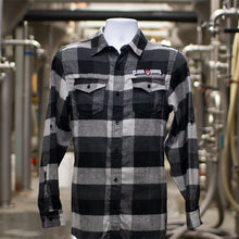Load image into Gallery viewer, Black & White Plaid Buttondown