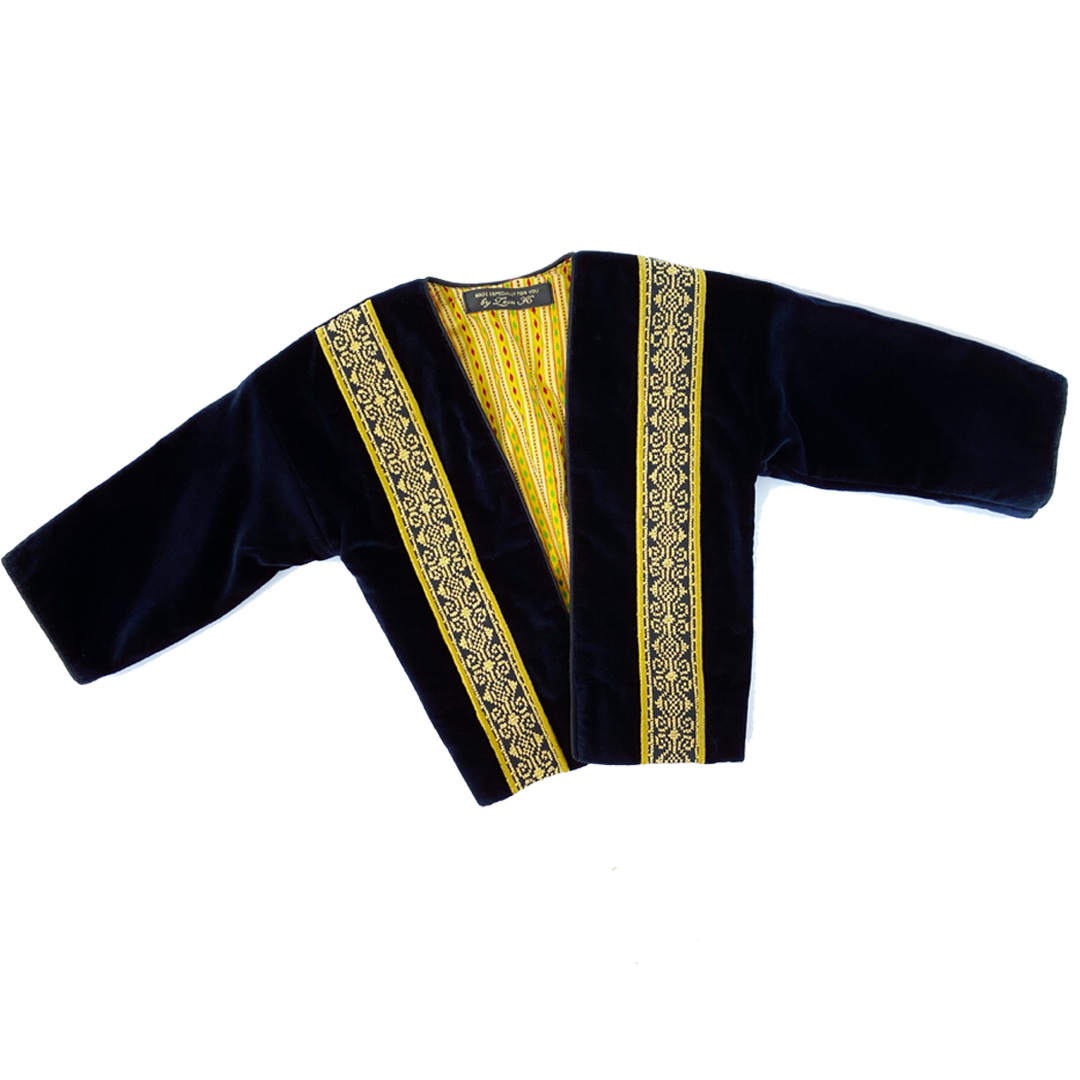 Navy Embroidered Jacket By Zein Khasawneh