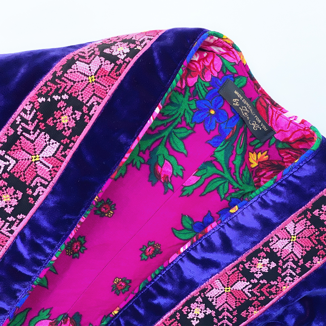 Purple Embroidered Jacket By Zein Khasawneh