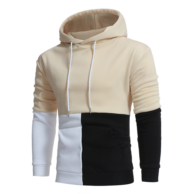 Tricolor Patchwork Hoodie