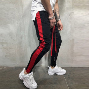 Casual Striped Skinny Sweatpants