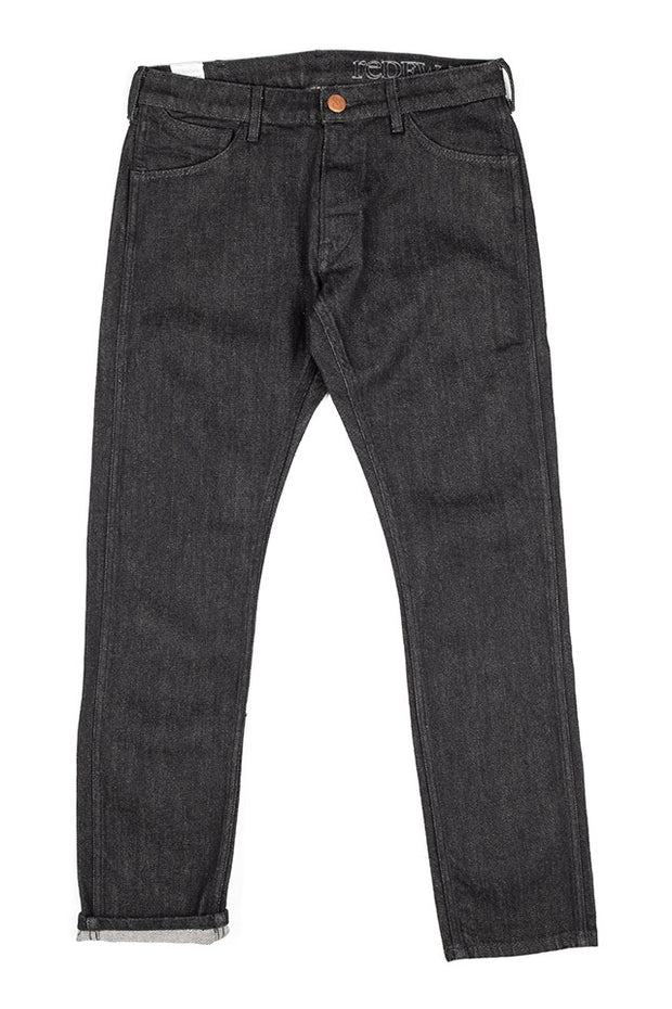 bjork jeans by redew in black pre-shrunk finish