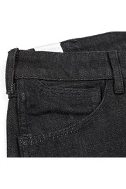 pocket detail on a pair of bjork jeans by redew in black pre-shrunk finish