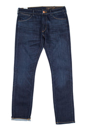 bjork jeans by redew in indigo implode finish