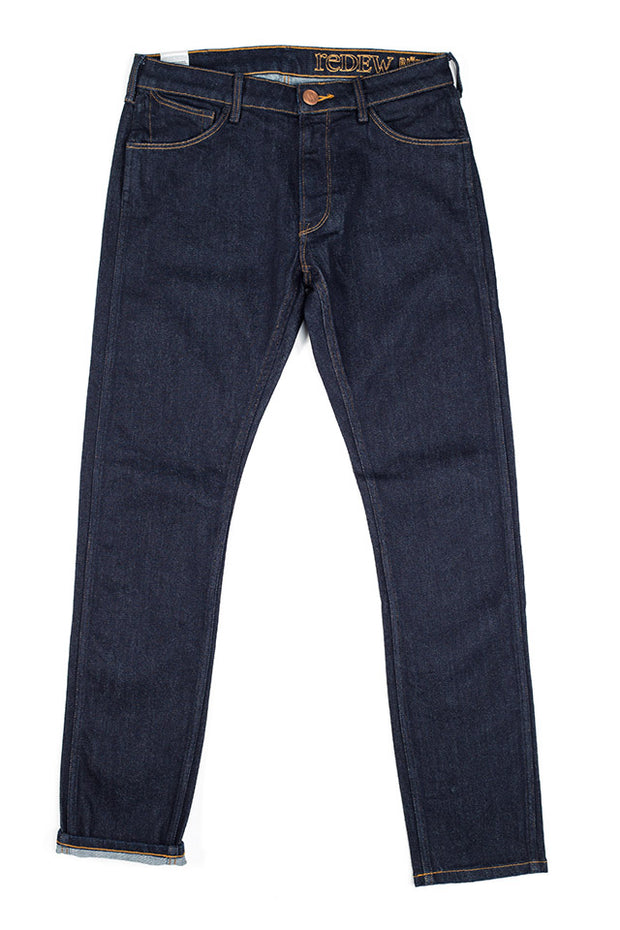bjork jeans by redew in indigo pre-shrunk finish
