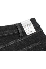 size detail on a pair of orn jeans by redew in black pre-shrunk finish