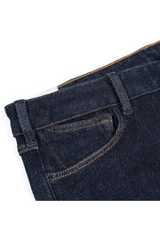 pocket detail on a pair of orn jeans by redew in indigo pre-shrunk finish
