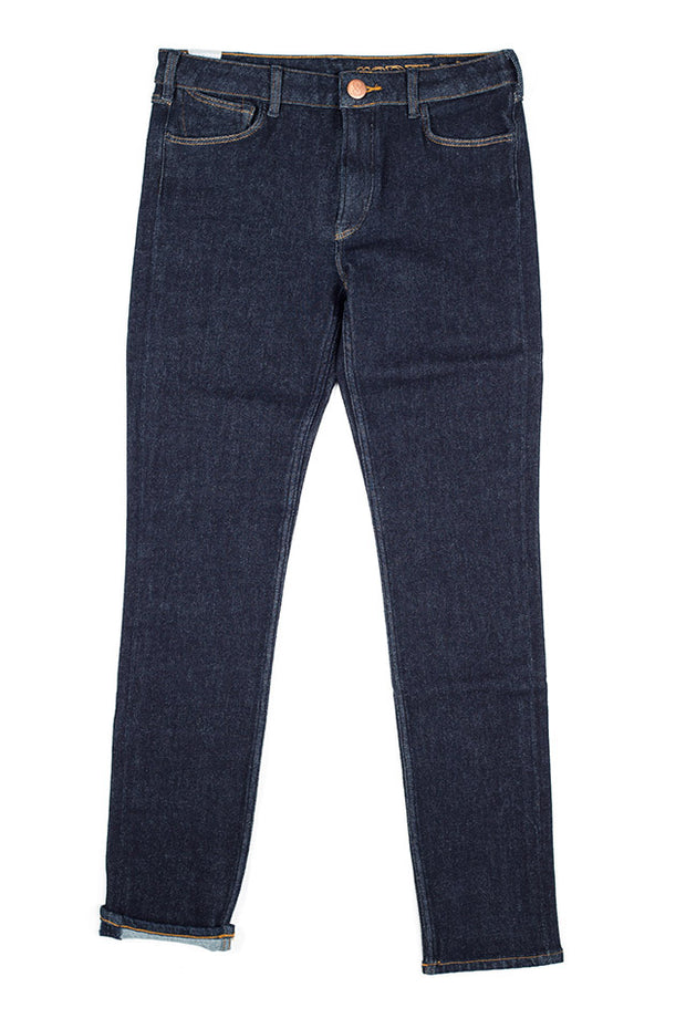 orn jeans by redew in indigo pre-shrunk finish