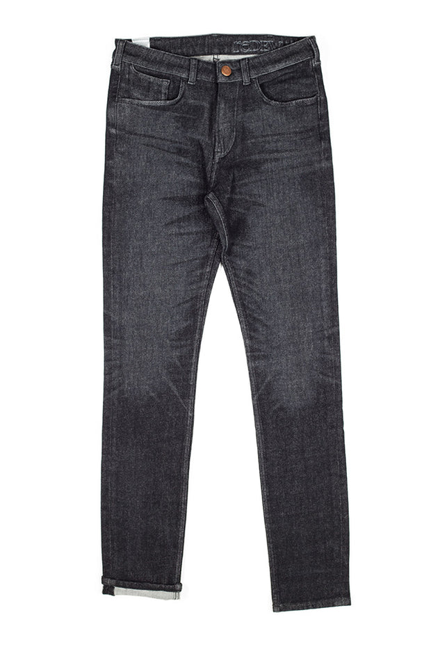 rak jeans by redew in black implode finish