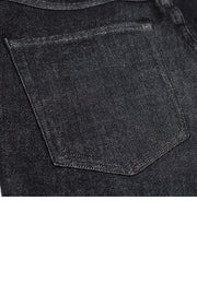 back pocket detail on a pair of rak jeans by redew in black implode finish