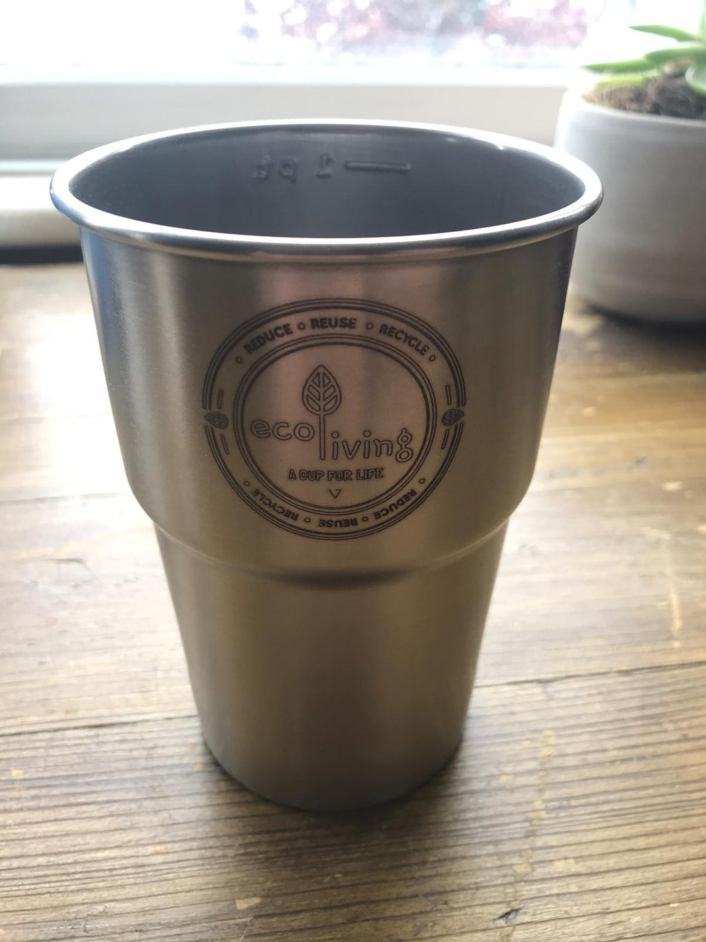 stainless steel pint cup reusable British