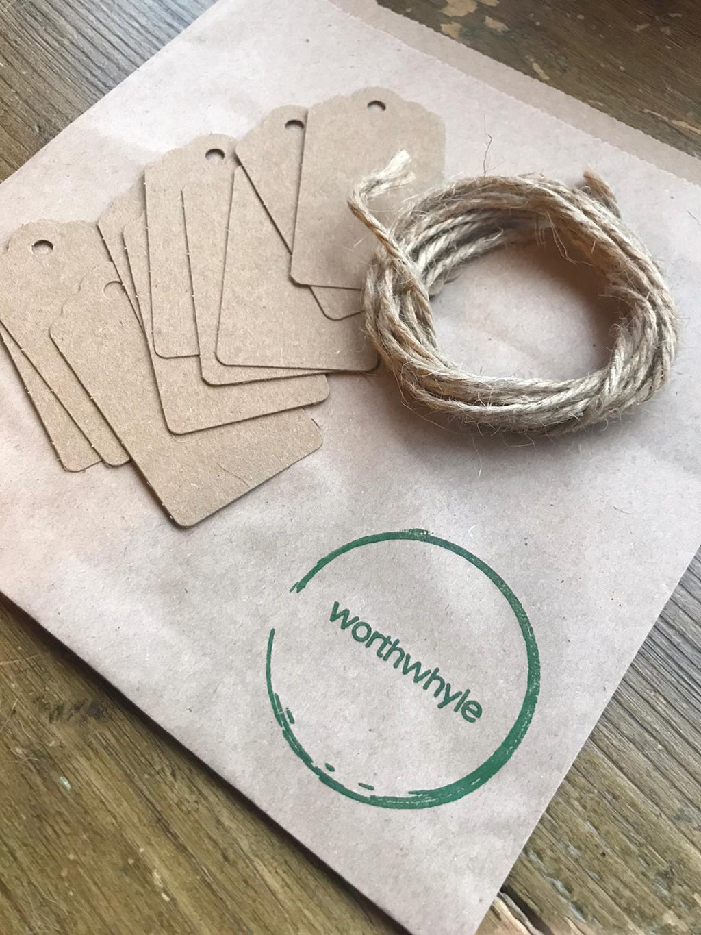 paper gift tags recycled zero waste england