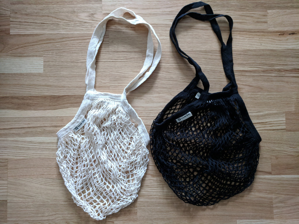 string bag - organic cotton with long handle