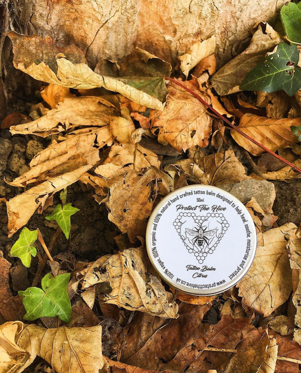 vegan plastic free tattoo aftercare balm