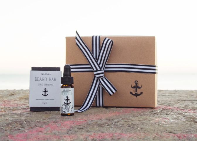 beard oil & shampoo gift set