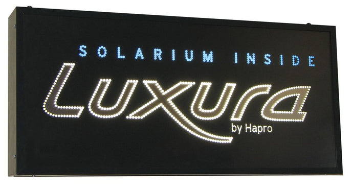 Solarium Inside Luxura LED Sign