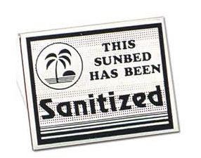 This Sunbed Has Been Sanitized - Popup Plastic Sign