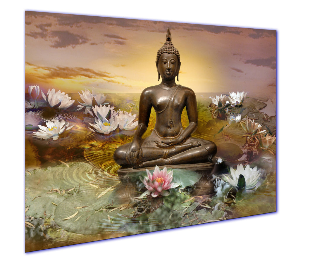 art print canvas buddha