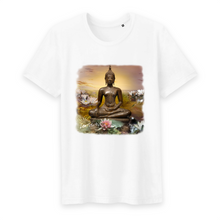 Load image into Gallery viewer, Herren Yoga Shirt Buddha weiss