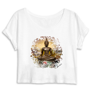 Crop Top Yoga Shirt Buddha Lea Schock