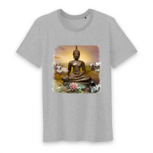 Load image into Gallery viewer, Herren Yoga Shirt Buddha grau