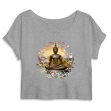 Laden Sie das Bild in den Galerie-Viewer, Crop Top Yoga Shirt Buddha Lea Schock