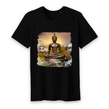 Load image into Gallery viewer, Herren Yoga Shirt Buddha schwarz