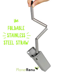The Incredible Folding Stainless Steel Straw