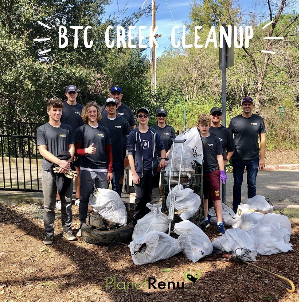 Creek Cleanup by Boys Team Charity