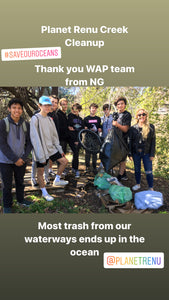 Local Creek Cleanup- Helping our Oceans