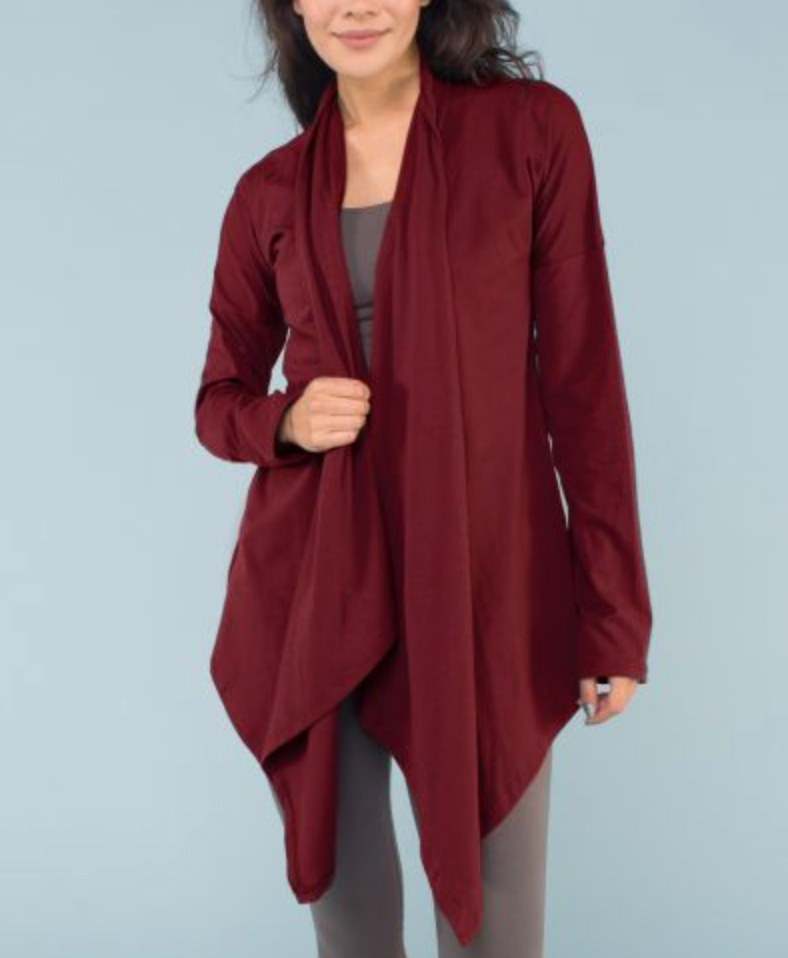 Organic Cotton Draped Cardigan