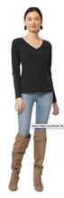 Organic V-Neck Long Sleeve Tee