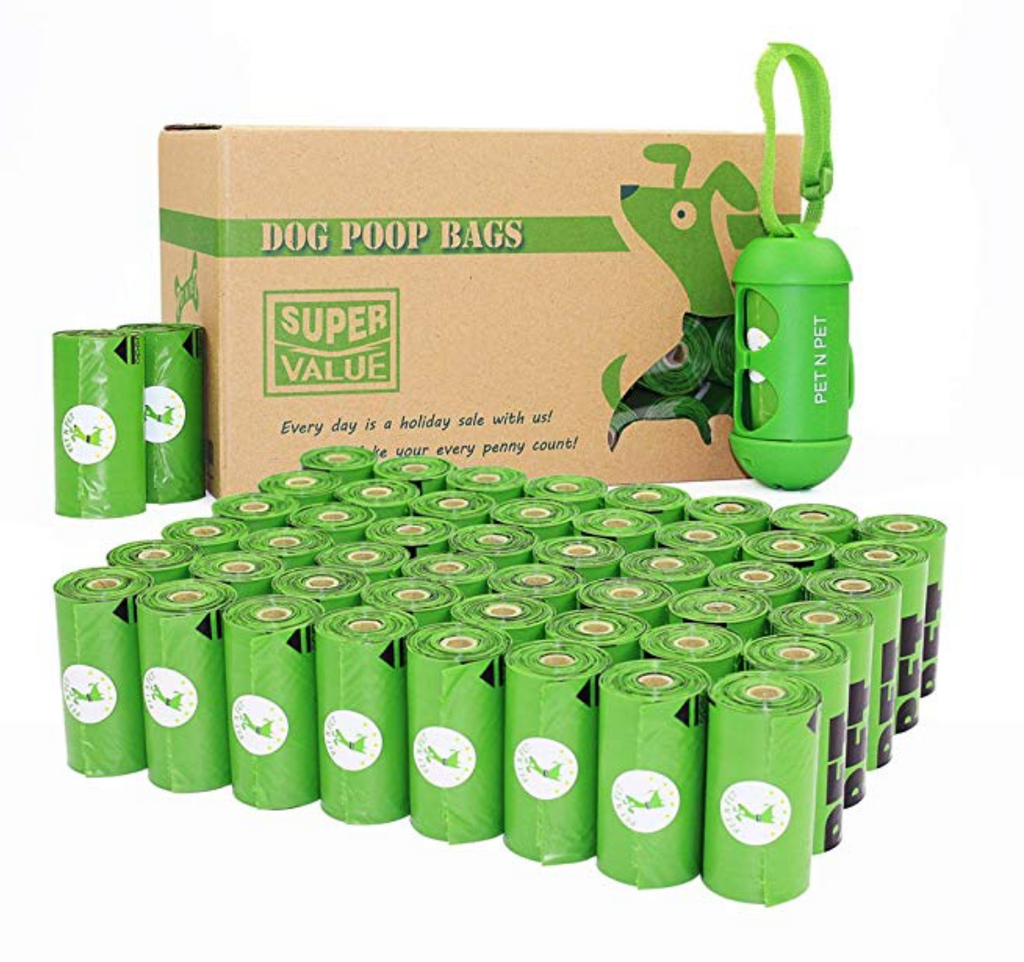 48 Rolls of Compostable Dog Poop Bags with Handy Dispenser