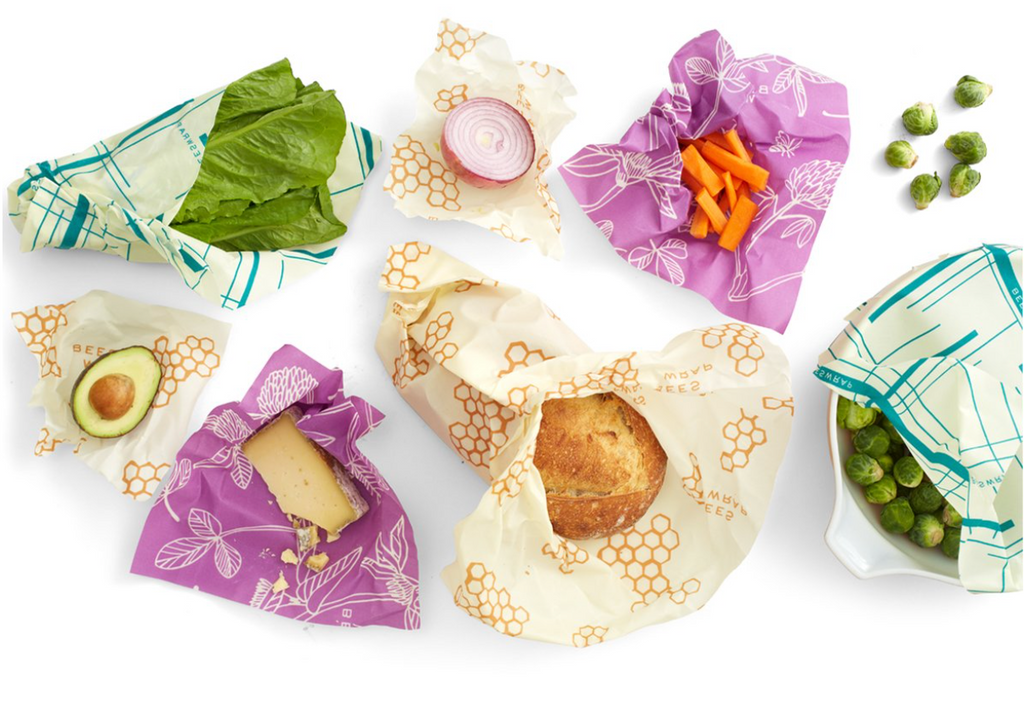 Bee's Wraps, Plastic Alternative, Planet Renu, Bee's Wrap, Saran Wrap Replacement, Plastic Bag Replacement, Zero Waste Lunch, Reusable Food Cover