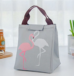 Flamingo Insulated Canvas Lunch Bag, Lunch Bag