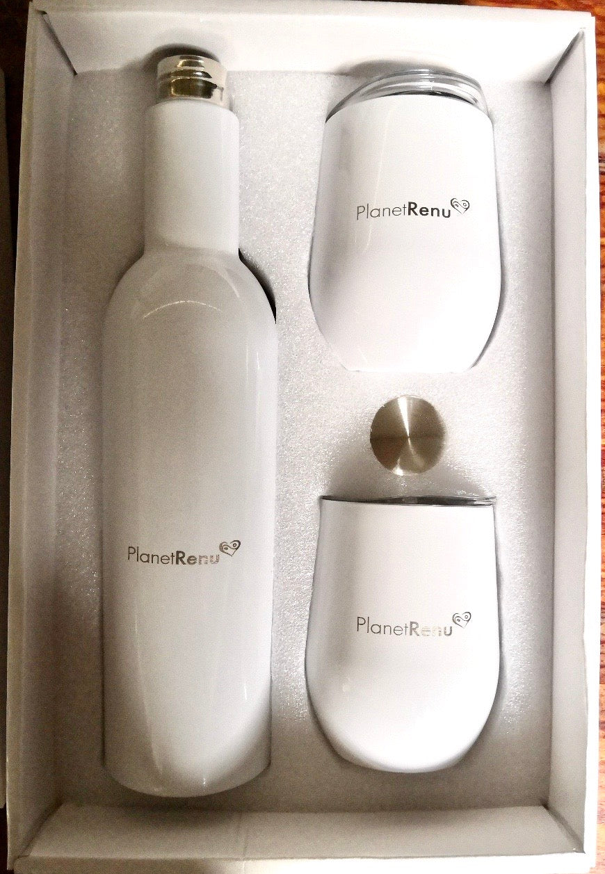 Stainless Steel Growler Gift Set