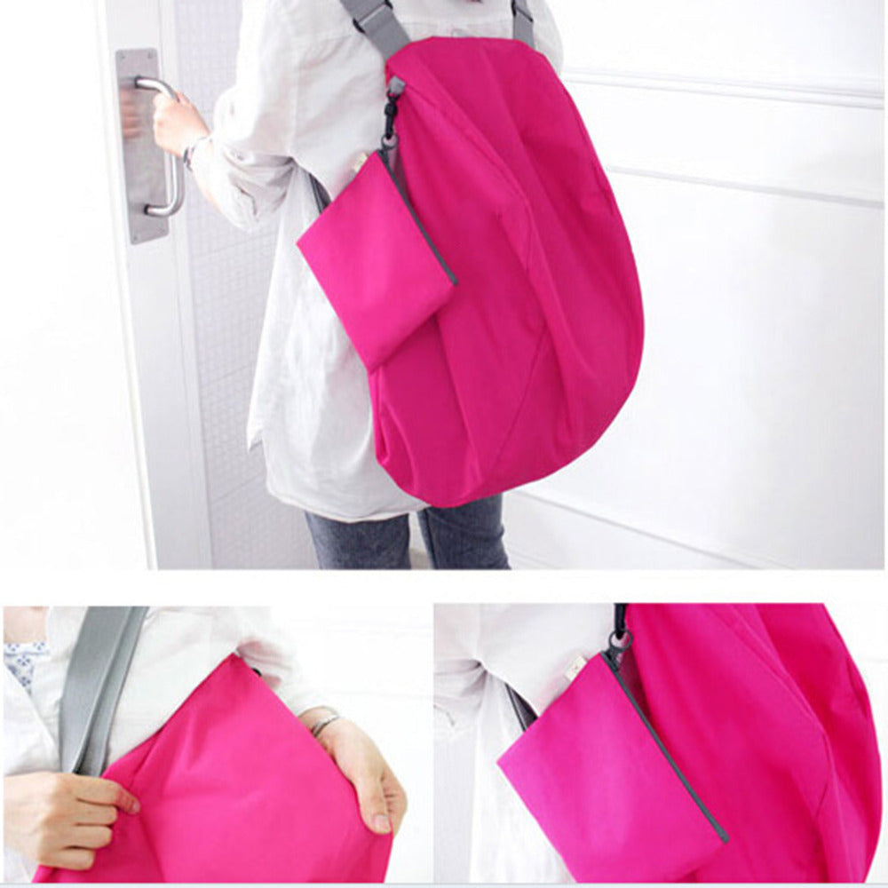 Foldable Reusable Shoulder Tote