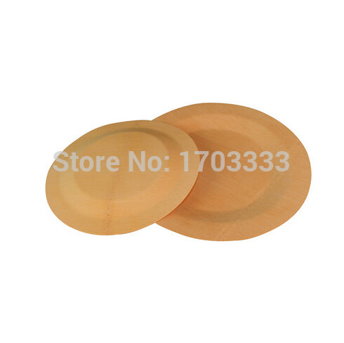 Free Shipping Party Event Wedding Supplies, Disposable Eco-Friendly Tableware, 220mm Bamboo Round Veneer Dinner Plate, 100PCS
