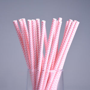 25pc Decorative Environmental Paper Drinking Straws
