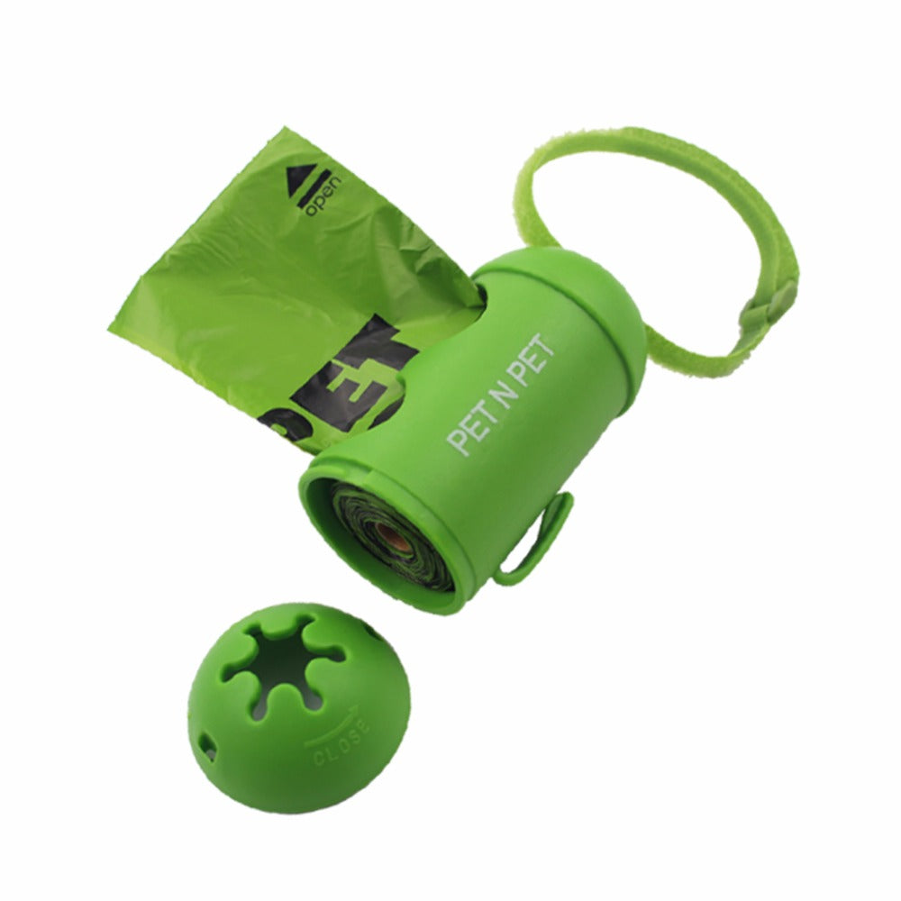 Earth-Friendly Poop bag- 1 Rolls with 1 Green Dispenser