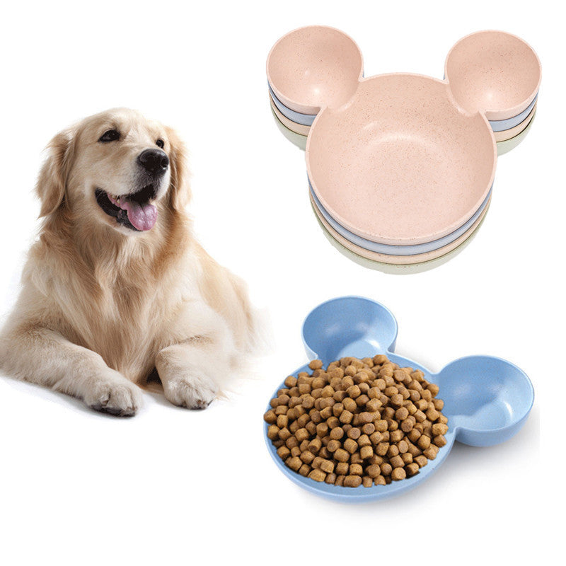 Reusable Biodegradable Wheat Straw Pet Feeding Bowls- Cartoon Style for Dogs or Cats
